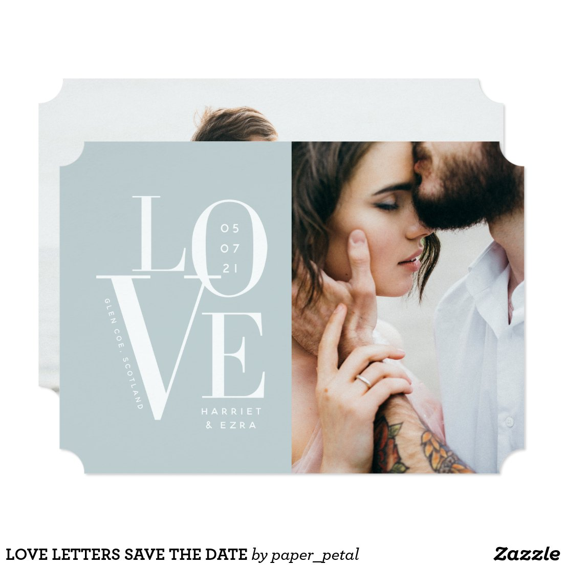 LOVE LETTERS SAVE THE DATE CARD