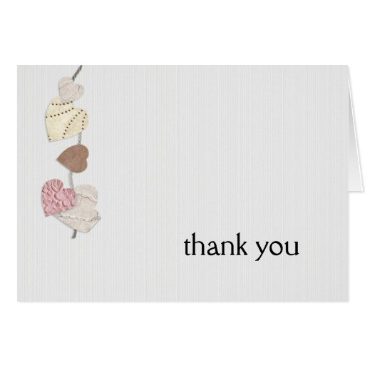Love Letters Thank You Greeting Card