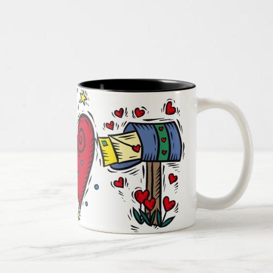 LOVE LETTERS Two-Tone COFFEE MUG