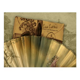Love Letters Valentine Postcard
