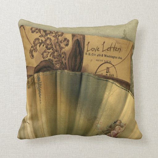 Love Letters Valentine Throw Pillows