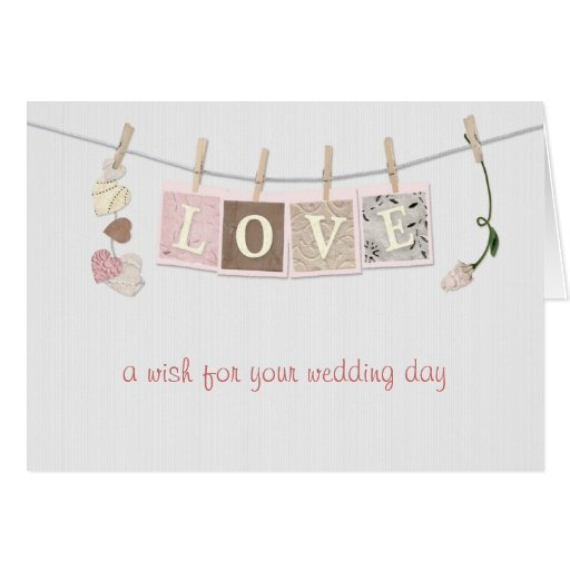 Love Letters Wedding Congratulations Greeting Card