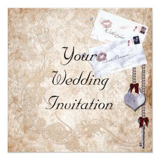 Love Letters Wedding Invitation 13 Cm X 13 Cm Square Invitation Card