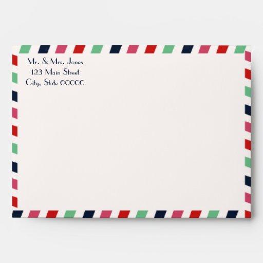Love Letters Wedding Invitation Envelope