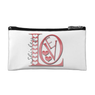 Love Letters with Hearts by Shirley Taylor Cosmetic Bag