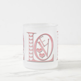 Love Letters With Hearts by Shirley Taylor Frosted Glass Coffee Mug