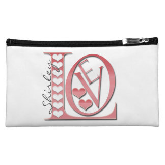 Love Letters with Hearts by Shirley Taylor Makeup Bag