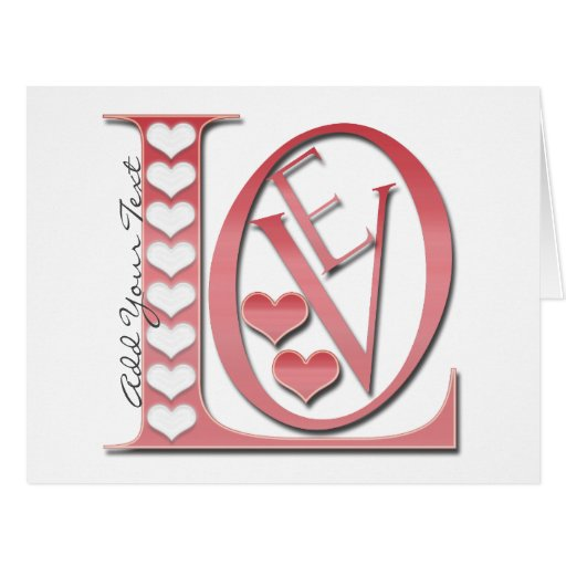 Love Letters With Hearts Large Greeting Card