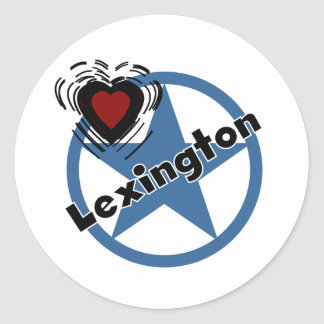 Love Lexington Round Sticker