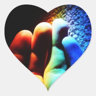 Love LGBT hand sticker