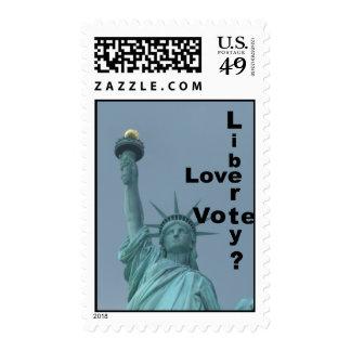 Love Liberty? Vote! Postage Stamp