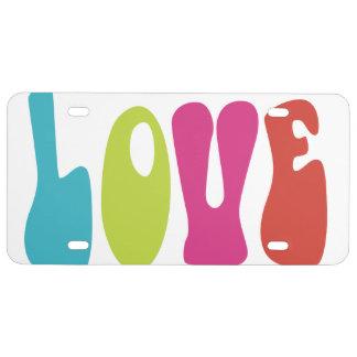Love License Plate
