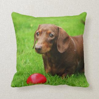 LOVE & LICKS Pluto grass green Throw Pillow