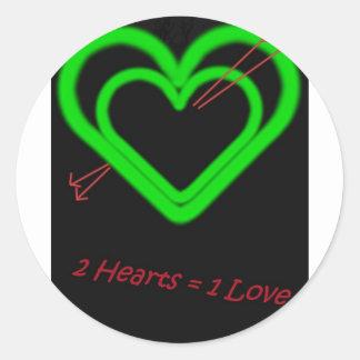 Love -Liebe Round Sticker