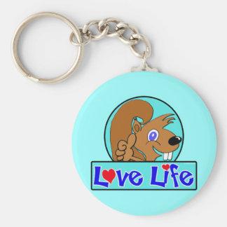 Love Life Basic Round Button Keychain