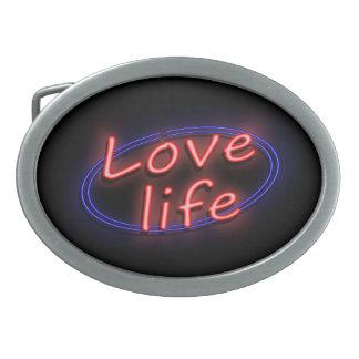 Love life. belt buckle