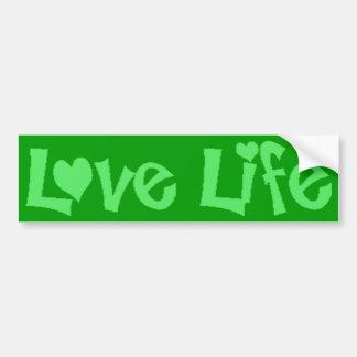 Love Life Car Bumper Sticker