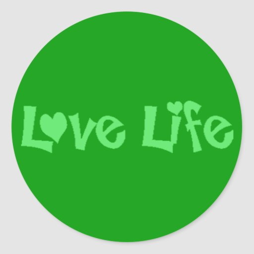 Love Life Classic Round Sticker