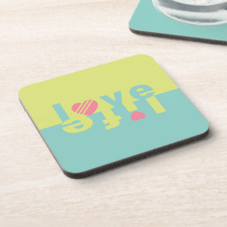 LOVE LIFE coasters