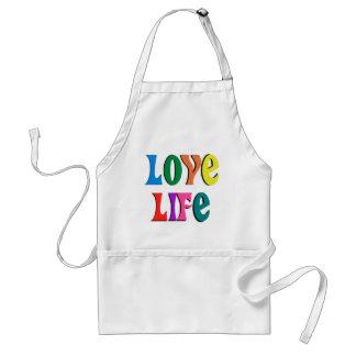 LOVE LIFE! customizable christian message Adult Apron