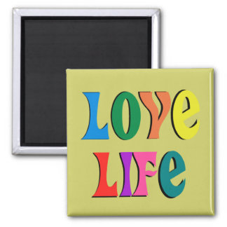 LOVE LIFE! customizable christian message Fridge Magnet
