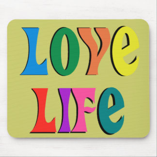 LOVE LIFE ~ customizable christian message Mouse Pad