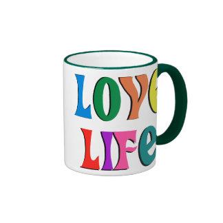 LOVE LIFE! customizable christian message Ringer Mug