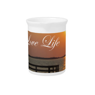 Love Life - Dock and Sunset Beverage Pitcher