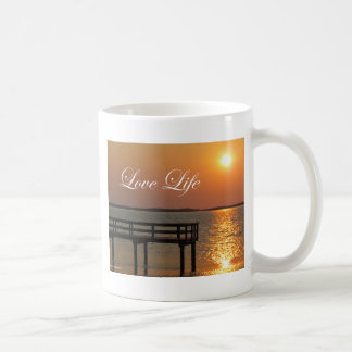 Love Life - Dock and Sunset Coffee Mug