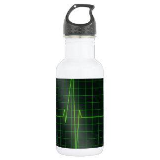 Love life electrocardiagram stainless steel water bottle