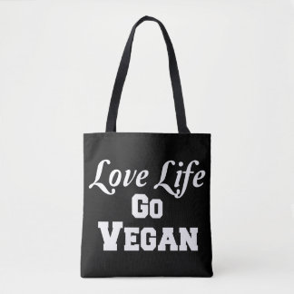 Love Life Go Vegan Totes Bag