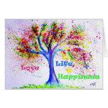 Love, Life & Happiness Card