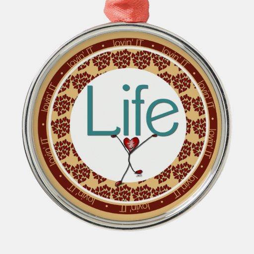 Love Life Heart Premium Ornament