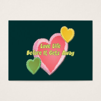 Love Life Hearts Business Card