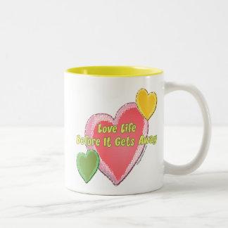 Love Life Hearts Mug