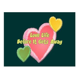 Love Life Hearts Postcard