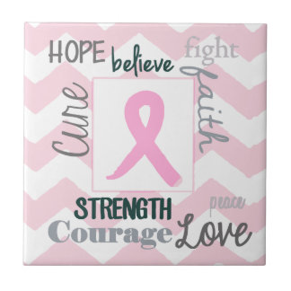 Love Life Hope Breast Cancer Tile