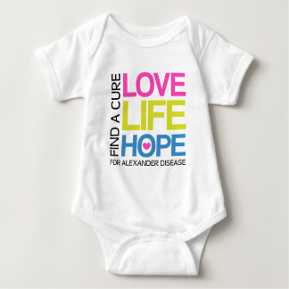 Love Life Hope - find a cure for alexander disease Baby Bodysuit