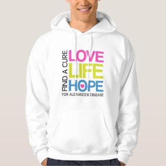 Love Life Hope - find a cure for alexander disease Hoodie