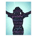 Love Life: Inspiration...Gratitude...Joy Postcard