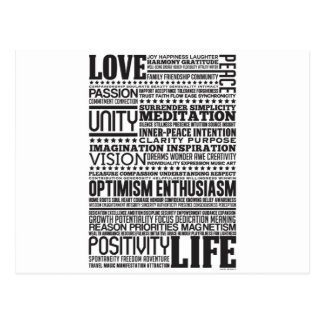 Love Life Inspiring Motivating Products B W Postcard