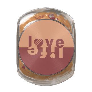 LOVE LIFE jars & tins Glass Candy Jars