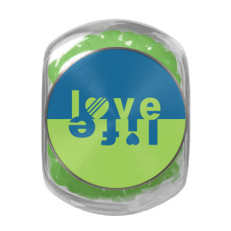 LOVE LIFE jars & tins Jelly Belly Candy Jars