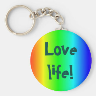 Love life! key-ring multi-colored keychain