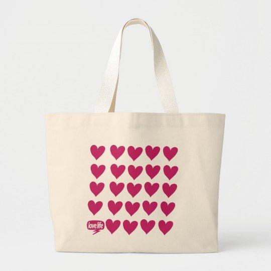Love life large tote bag