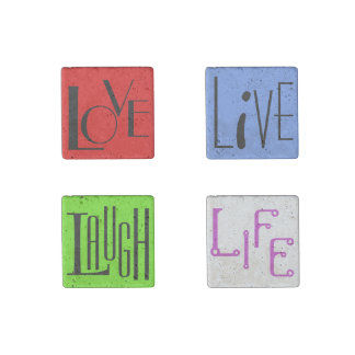 Love Life Live and Laugh Stone Magnet