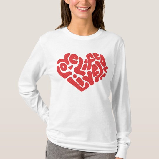 Love life live love valentines hoody for girls