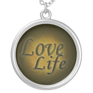 Love Life- Map Round Pendant Necklace