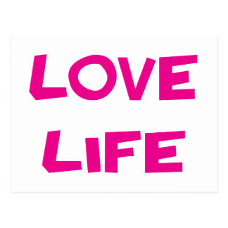 Love Life Motivational Blank Note Post Card