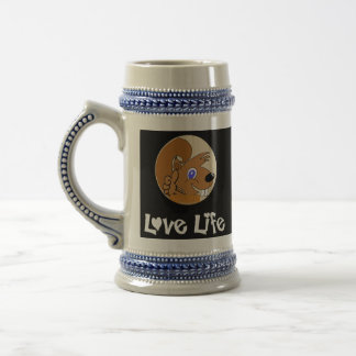 Love Life 18 Oz Beer Stein